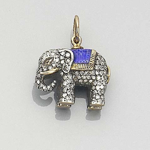An elephant-shaped pendant Russian