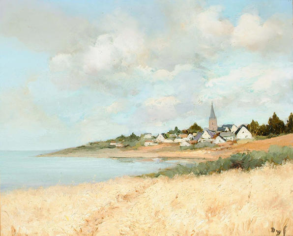 Marcel Dyf (French, 1899-1985) Arzon vu du Croisty, Bretagne 47 x 55cm.