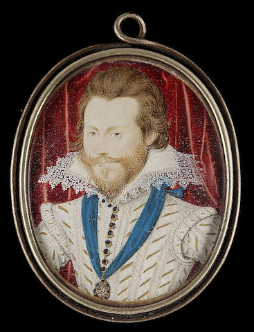 Nicholas Hilliard, Henry Wriothesely, 3rd Earl of Southampton (1573-1624), wearing white doublet sla