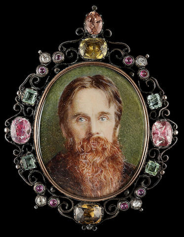 Edward Robert Hughes, William Holman Hunt O.M. (1827-1910), full-face, bearded and with piercing blu