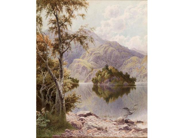 James MacCulloch (19thc) Loch Katrine 42x33cm