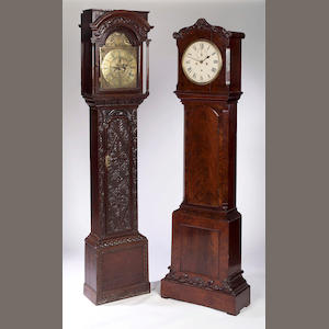 An early 20th century carved oak longcase clock, Clifton, Liverpool,
