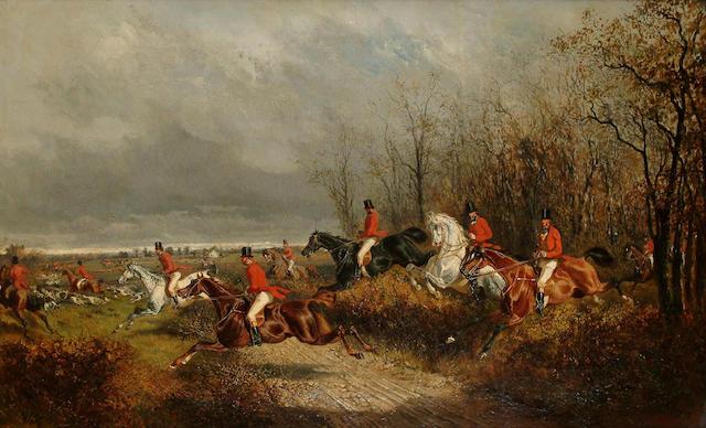 Alexander Ritter Von Bensa (German, 1820-1902) The Hunt, 45 x 73.5cm