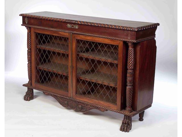 A George IV mahogany dwarf bookcase,