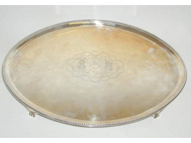 A George III salver, by Crouch I and Hannam, 1789,