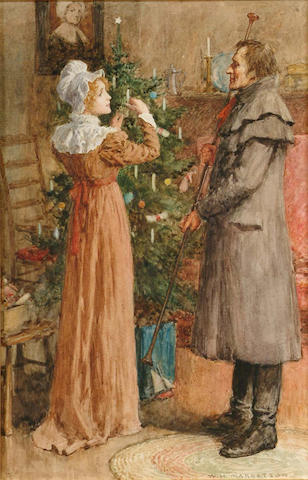 William Henry Margetson (British, 1861-1940) The first Noel, 28.5 x 18.5 cm.