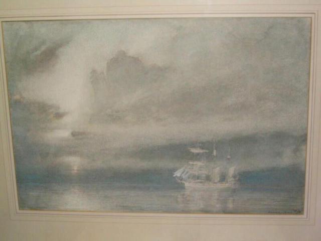 """Albert Goodwin """"Gathering for battle"""", 35.5 x 53cm"""