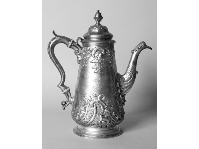 A William IV Scottish coffee pot Elder & Co, Edinburgh 1832,