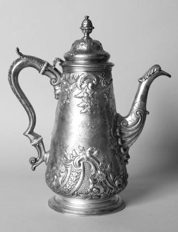 A William IV Scottish coffee pot Elder & Co, Edinburgh 1832,