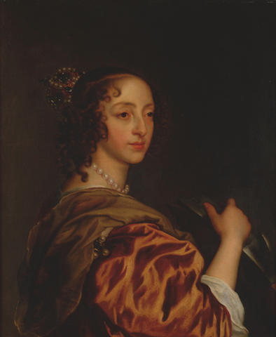 Circle of Sir Peter Lely (1618-1680) 'Henrietta Maria - a head and shoulders portrait'
