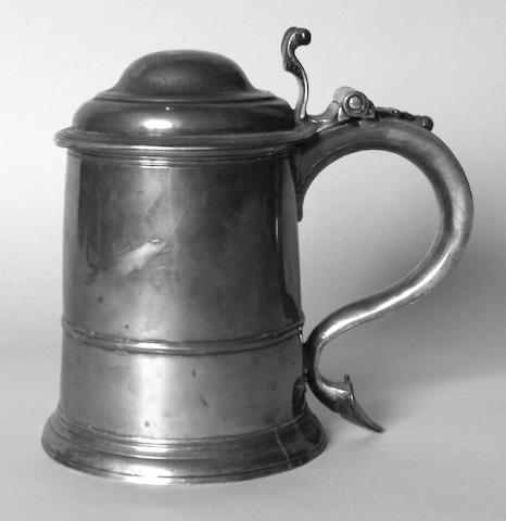 A George I lidded tankard, George Boothby, 1723,