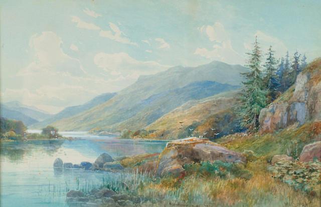M Crouse (fl.1889-1907) 'Glenfinnan and Loch Sheil'