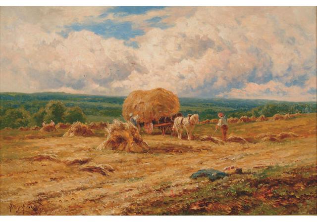 Henry H Parker - Harvesting scene