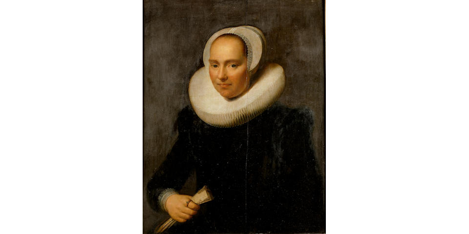 Michael Jansz. van Miereveldt (Delft 1567-1641) Portrait of a lady, half-length, in black  78.4 x 61