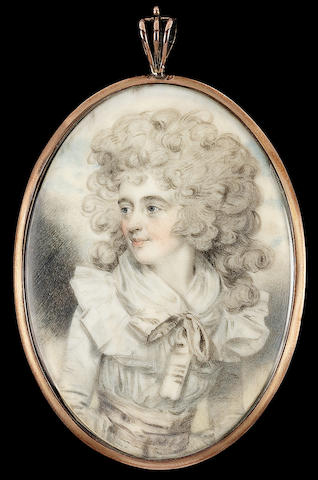 John Downman A.R.A., Elizabeth Farren (1759-1829), later Countess of Derby, looking to her right, we
