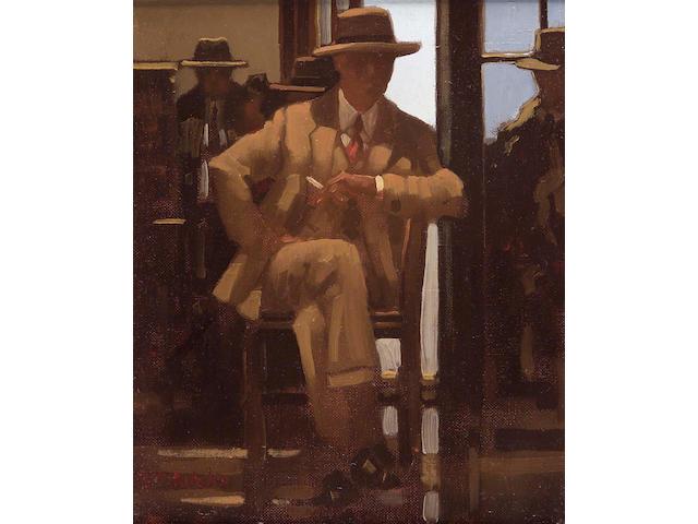 "Jack Vettriano OBE (b1954) ""And Waiting Still"" 29x24cm"