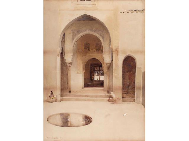 "Arthur Melville ARSA (1855-1904) ""Two Moorish Guards"" 74x53cm"