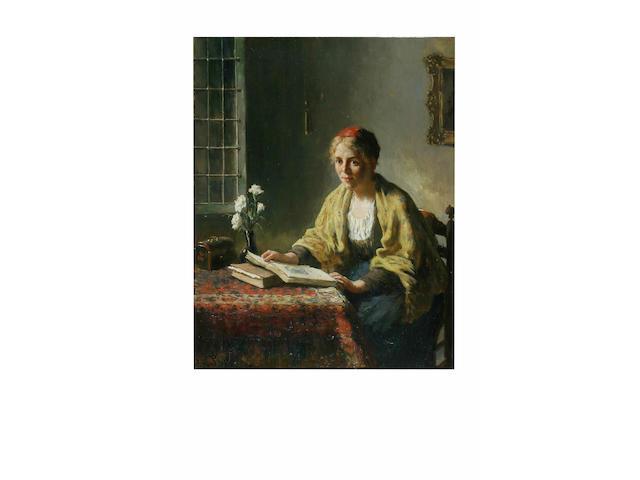 Bernard de Hoog (1866 - 1943) 'Contemplation', 51 x 41cm.