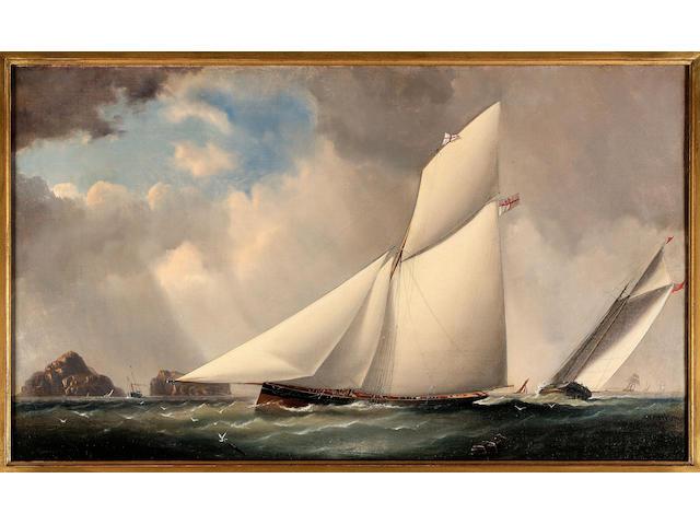 Capt. James Haughton Forrest (British/Australian,1825 - 1924) The yacht 'Arrow'.