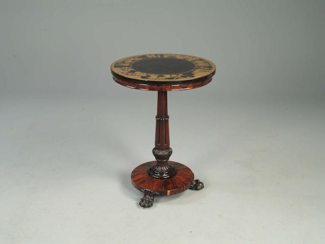 A William IV rosewood occasional table