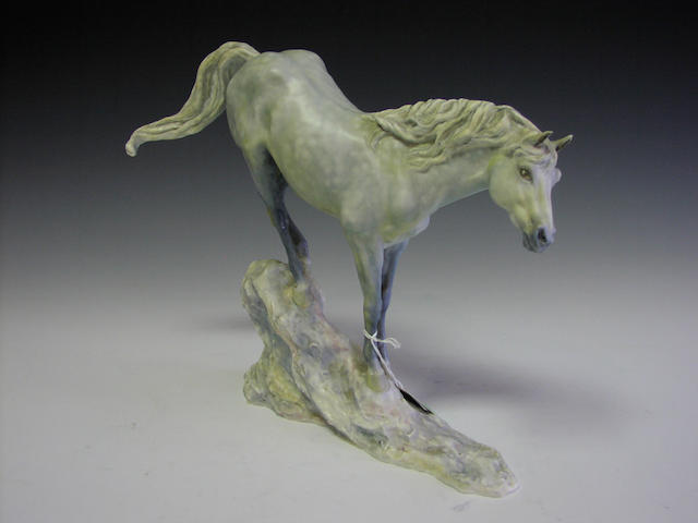 Connemara Stallion, 'Cocum Hawkstone', A Royal Worcester model, numbered 34 from 250,