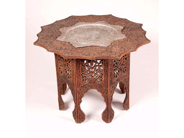 A Kashmiri hardwood table