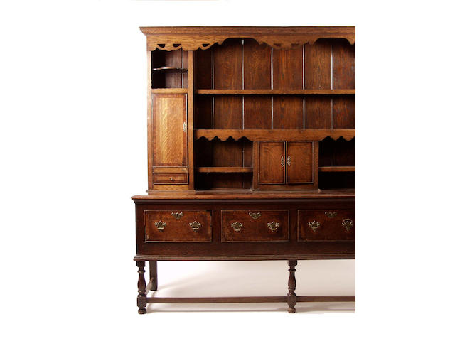 An 18th Century Shropshire oak dresser,