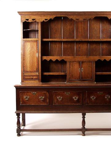An 18th Century Shropshire oak dresser,