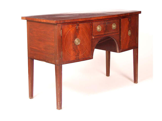 A 19th Century mahogany and boxwood strung washstand