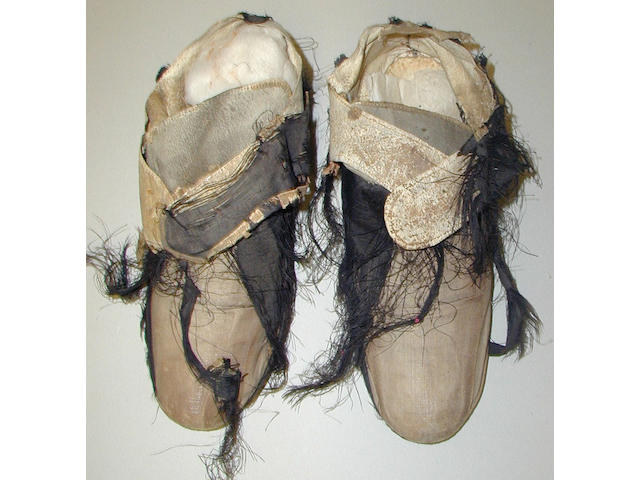 By repute, the shoes worn by Charles I on the day of his execution, Tuesday 30th January 1649,