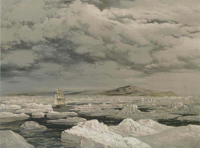 After Lt. Samuel Gurney Cresswell (British, 1827-1867) Eight lithographs depicting HMS Investigator.