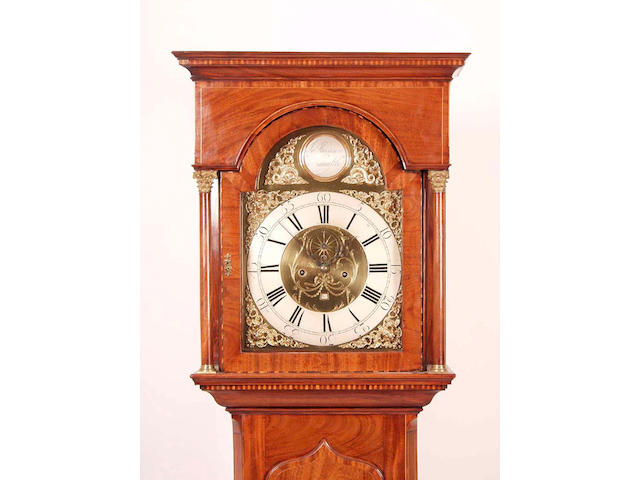 A mahogany cased eight day longcase clock, Harrison, Newcastle,