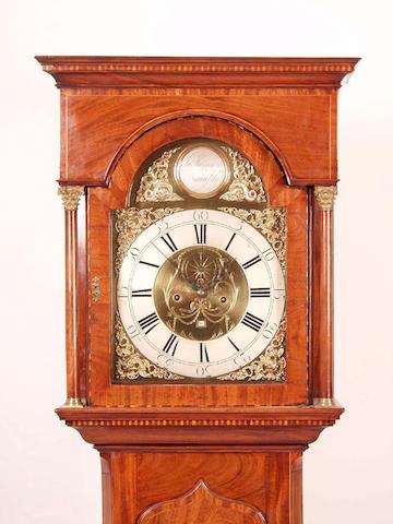 A mahogany cased eight day longcase clock, Harrison, Newcastle,