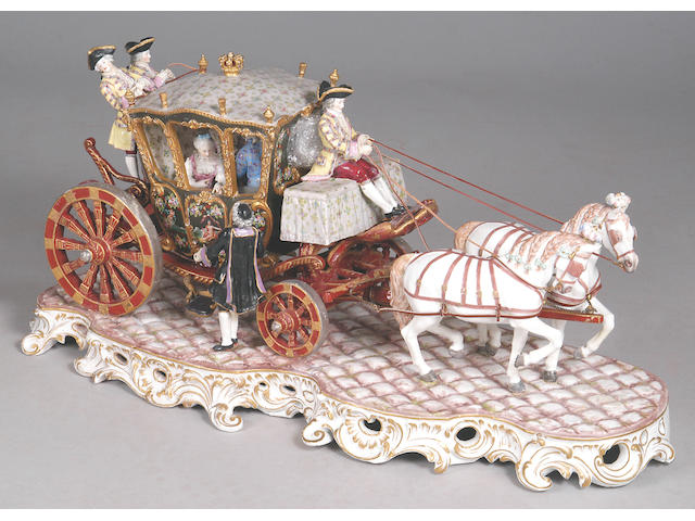 A large Dresden porcelain figure group,