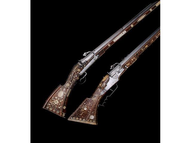 A Very Rare Swiss 15-Bore Matchlock Target Rifle (Zielbüchse)