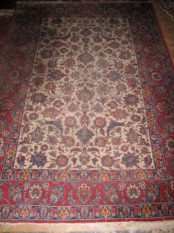 An Isfahan rug Central Persia, 224cm x 151cm
