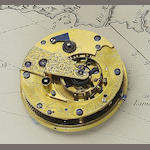 A 19th century pocket chronometer movement in a later custom made case  Barrauds' Cornhill, London 2