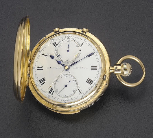 A fine and rare ealy 20th century 18ct gold minute repeating split second chronograph Charles Frodsham, 08461 ADFmsz