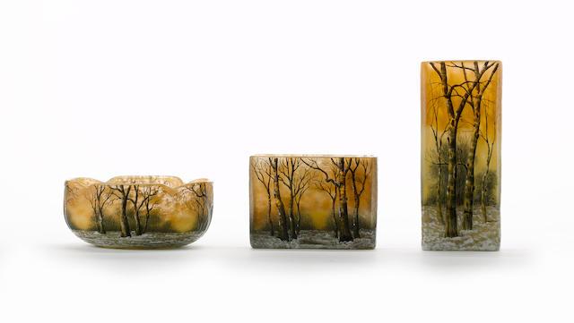 Daum 'Winter Landscape' Vase