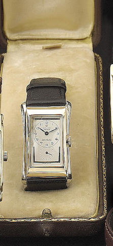 Rolex. An 18ct yellow and white gold rectangular wristwatchRef:1490, Glasgow import mark for 1930