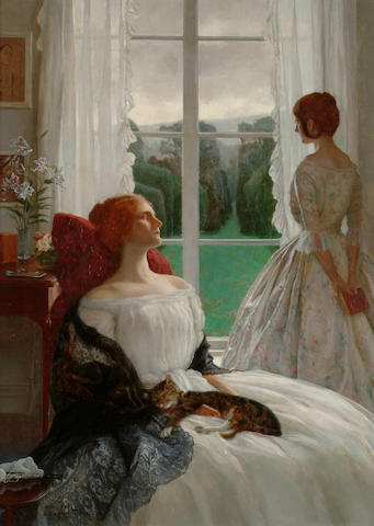 Leonard Campbell Taylor (British, 1874-1969) The rain it raineth every day 36 x 27cm.