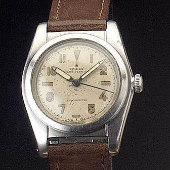 Rolex. A stainless steel automatic centre seconds wristwatchRef:2940, 1940s