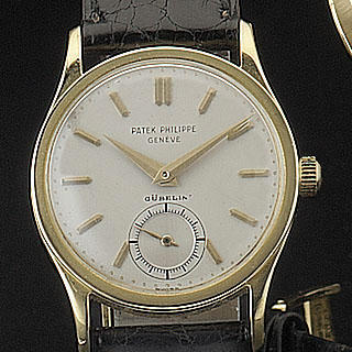 Patek Philippe.  An 18ct gold wristwatch Calatrava, movement numbered 723223, circa mid 1950's