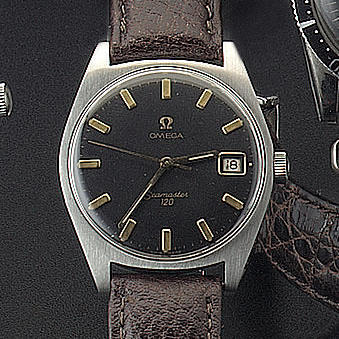 Omega. A stainless steel automatic centre seconds wristwatch  'Seamaster 120' 1960s