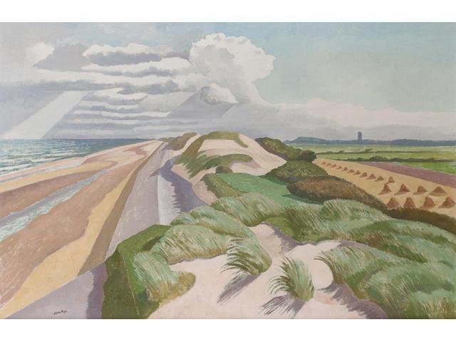 John Nash R.A., N.E.A.C. (1893-1977) Norfolk Coast 51 x 76 cm. (20 1/8 x 30 in.)