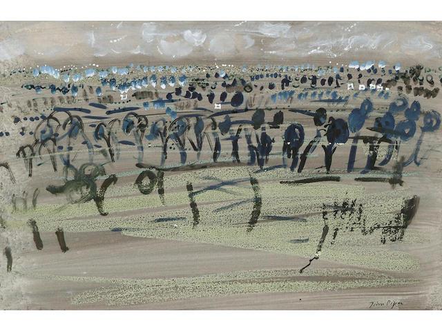 John Piper (British, 1903-1992) Quainton  34.5 x 52.5cm.