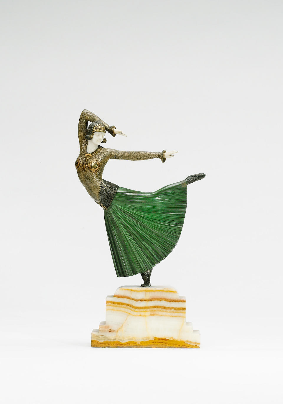 Dimitri Chiparus, circa 1925 'Ayouta' a Patinated Bronze and Carved Ivory Figure