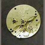 A late 19th century Swiss pivotted detent chronometer movement and dial