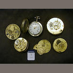 A selection of Continental verge watch movements 4