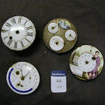 An interesting selection of Continental verge watch movements 4